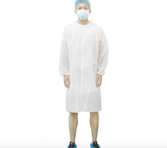 Breathable Disposable Lab Coat Acid - Resistant Providing Effective Protection