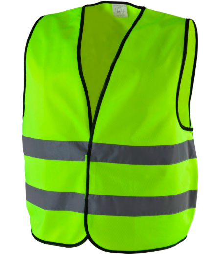 Non - Toxic Yellow Reflective Vest Breathe Freely Suit For High Temperature Place