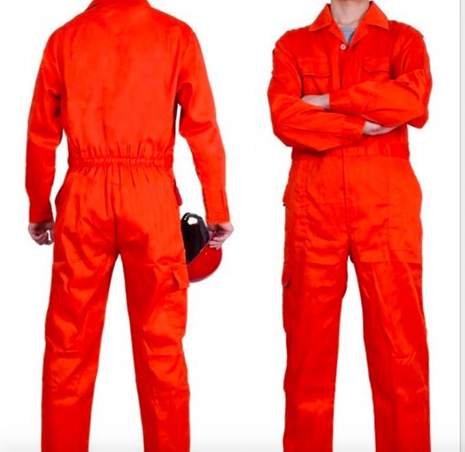 Orange Fire Retardant Coveralls , New Style Anti - UV Construction Coverall