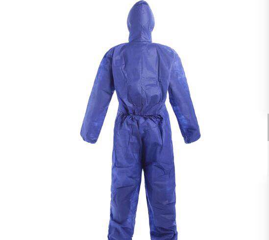 Blue PP Disposable Protective Coveralls , Type 5 / 6 Disposable Work Suits