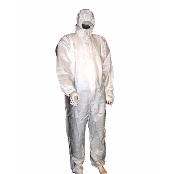 Industrial Microporous Disposable Protective Coveralls With White Elastic Cuff
