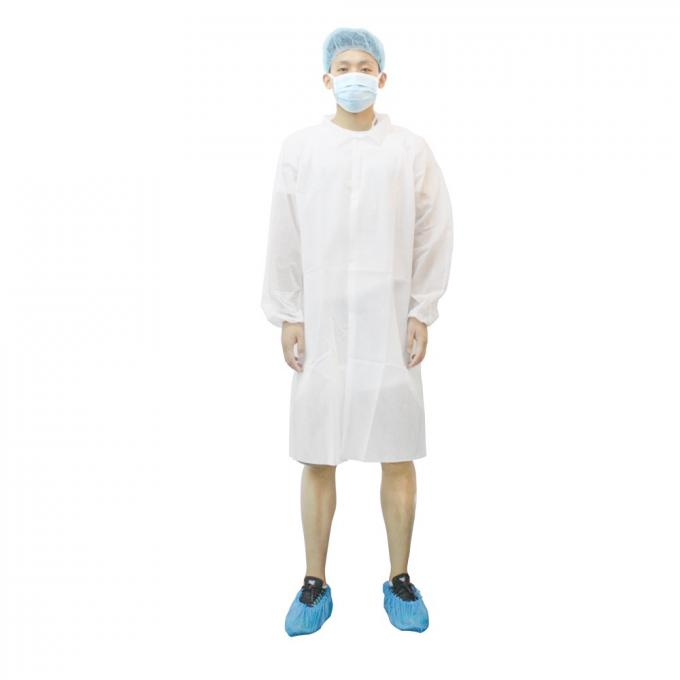 Lightweight Medical Lab Coats , SMS Disposable Lab Coats Environment - Friendly