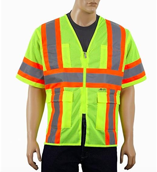 Breathable Reflective Safety Vest , Class 3 Outdoor Protective Reflective Work Vest
