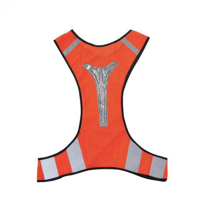 Plus Size Reflective Safety Vest With Shining LED Light For Night Working