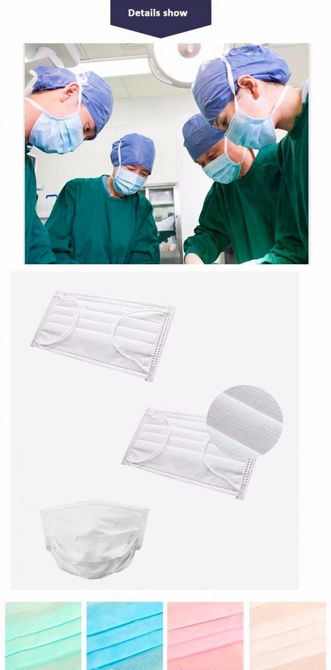 Colorful Disposable Non Woven Face Mask Effectively Filter Solid Particle Dust