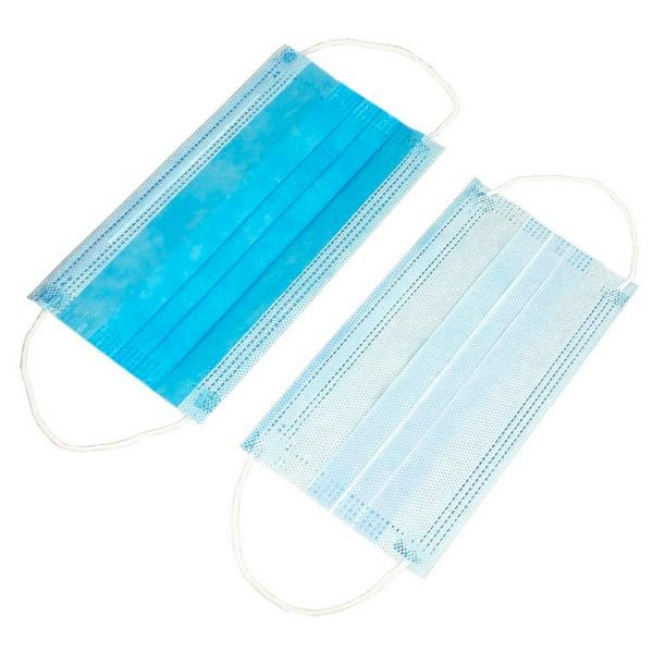 Blue High Filtration Single Use Face Mask Earloop Type For Food Processing Industry