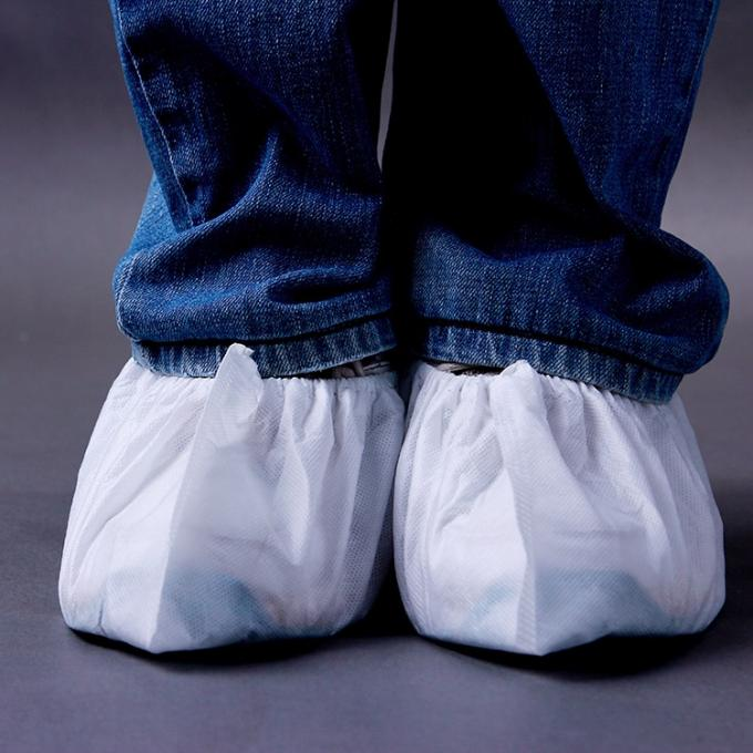 SMS Dust Proof Disposable Overshoe Covers With Excellent Air Permeability