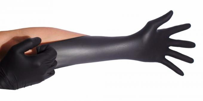 Durable Black Nitrile Disposable Gloves Effectively Enhancing Grasping Force