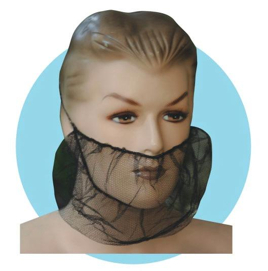 Recyclable Disposable Beard Net Nonwoven Waterproofing For Beauty Hospital