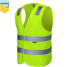 China Non - Toxic Yellow Reflective Vest Breathe Freely Suit For High Temperature Place supplier