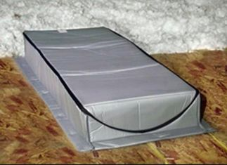 China Lightweight Attic Stair Insulation Cover With Two - Side Reflecting Metalized Film supplier