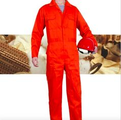 China Orange Fire Retardant Coveralls , New Style Anti - UV Construction Coverall supplier