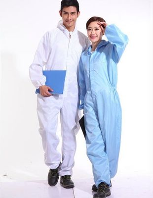 China Class 1000 FR Insulated Coveralls , Dustproof Lightweight Fire Retardant Coveralls supplier