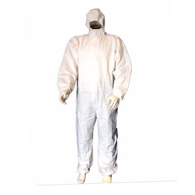 China Industrial Microporous Disposable Protective Coveralls With White Elastic Cuff supplier