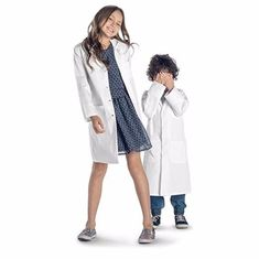 China Hospital White Medical Lab Coats , European Size Poly Cotton Kids Lab Coat supplier