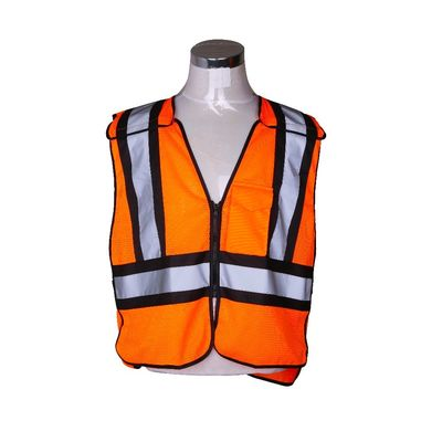 China 5 Points Mesh Orange Hi Vis Reflective Vest Fire Retardant For Men Workwear supplier