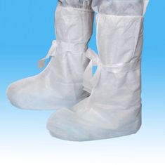 China White PP Disposable Shoe Covers , Non - Irritant Disposable Plastic Boot Covers supplier