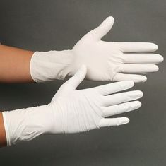 China Disposable Powdered Nitrile Latex Gloves Convenient Uniform Thickness Distribution supplier