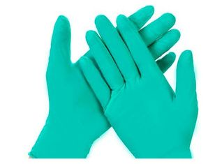 China Waterproof Disposable Nitrile Gloves , Textured Green Nitrile Gloves Disposable supplier
