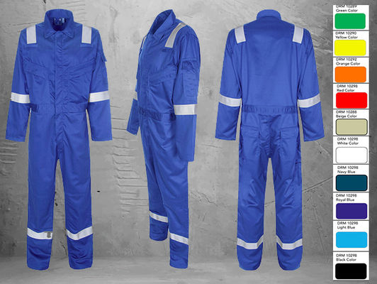 Blue Fire Retardant Waterproof Clothing Comfortable With Good Color Fastness