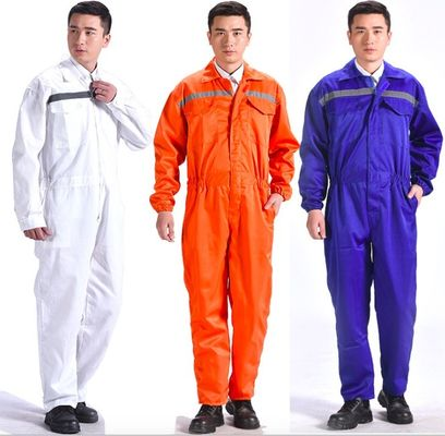 Breathable Flame Retardant Insulated Coveralls Anti - Wrinkle With Reflective Tape