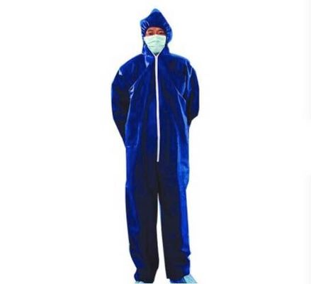 Clear Plastic Disposable Chemical Resistant Suits Anti - Blood For Hospital