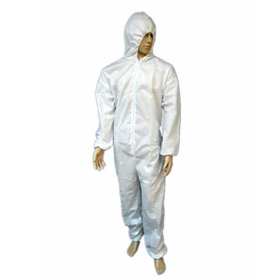 Anti - Bacterial Disposable Protective Coveralls For Full Body Protection