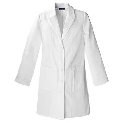 100% Cotton White White Laboratory Coat Long Sleeve Acid Resistant For Doctors