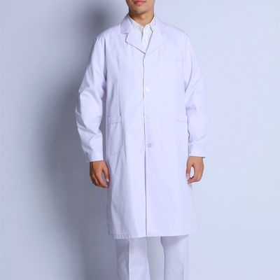 Anti - Bacterial Medical Lab Coats , Polyester Cotton Unisex Doctor Lab Coat