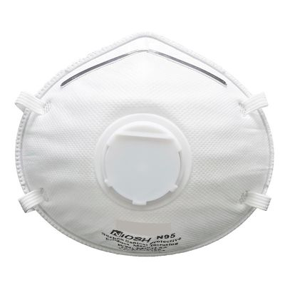 White Dustproof Disposable Face Mask , Protective Elastic Air Pollution Mask