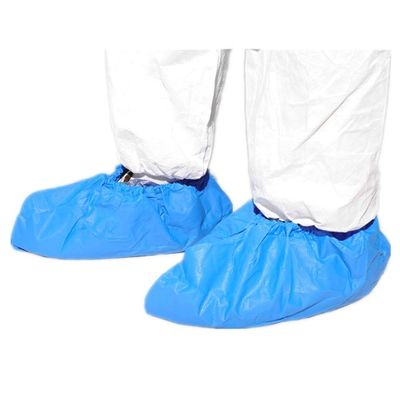 Waterproof Blue Disposable Shoe Covers Convenient With Diamond Embossed