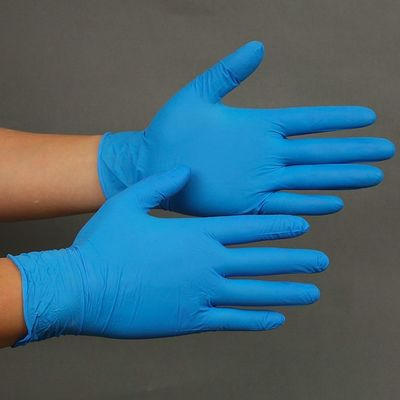Food Grade Disposable Nitrile Gloves , Flexible Dental Nitrile Examination Gloves